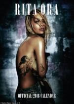 HOT! Check Out Photos From Singer Rita Ora's 2016 Calendar