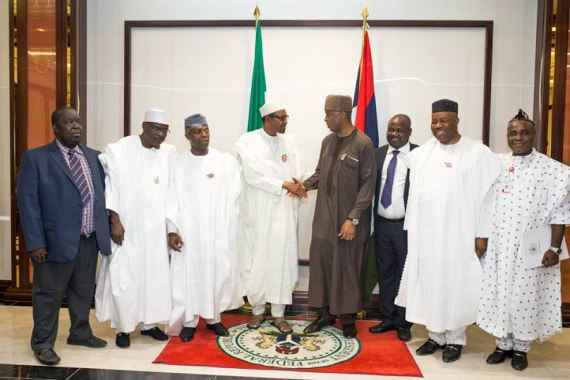 Photo Speak: Tinubu, Saraki Sit Side By Side As President Buhari Hosts Senators