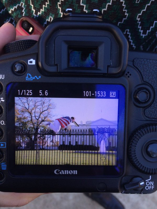"""Alright Let's Do This! ""- Man Draped In Americian Flag Said Before Jumping  White House Fence"