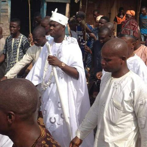 Photo: Ooni Of Ife After He Was Crowned Secretly This Morning