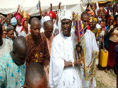 Photos: Ooni Ogunwusi Enters Palace As Traditional Rites End