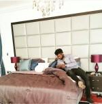 Spotted: Comedian Basket Mouth In Blogger Linda Ikeji's Bedroom