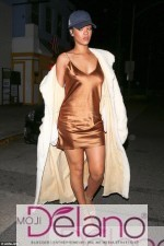 Rihanna Steps Out Braless In Night Wear Inspired Outfit (Photos)