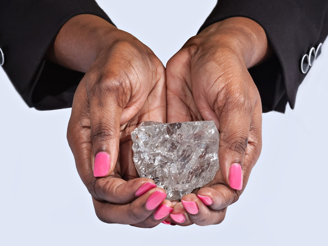 Check Out The World's Second Largest Gem Guality Diamond Discovered In Botswana(LOOK)