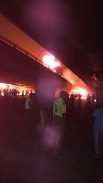 Photos Of Forte Oil Tanker That Exploded On Ojuelegba Bridge This Morning