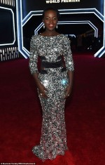 Check Lupita Nyong'o's Dazzling Gown To The Star Wars Premiere