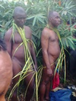 DISGRACED! Pastor Using JUJU For Miracle, His Juju Priest Paraded Naked In Imo(Graphic Photo)