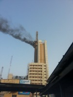 Just In: Nitel Building In Marina, Lagos On Fire