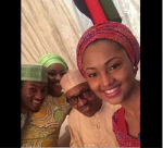 Too Cute! President Buhari Takes Rare Selfie With His Kids On His Birthday
