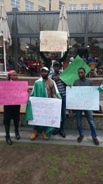 Photos: Nigerian Students Abroad Protest Ban Of Naira Master Card