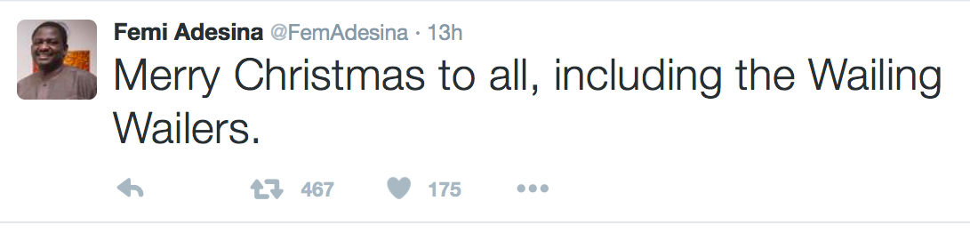 The Xmas Tweet By Femi Adesina That Made Him Trend All Day On Twitter