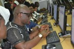 Man Of The People: Governor Fayose Recently Pictured At A Cyber Cafe