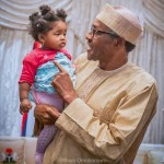Too Cute: President Buhari Pictured With His  Granddaughter