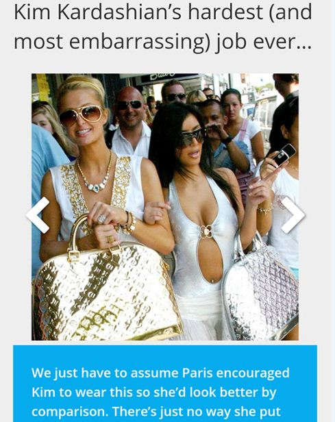 Started From The Bottom Now She's Here! Photos Emerge Of Kim Kardashian's Most Embarrassing Job Before She Became A Celeb(LOOK)