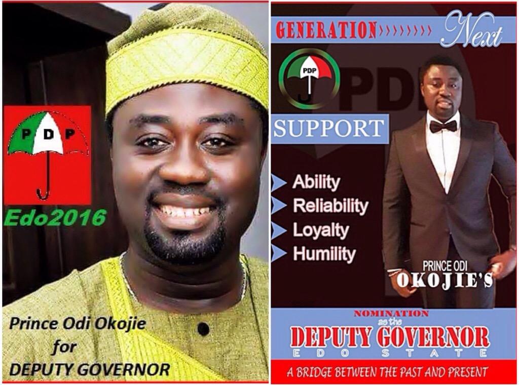 Mercy Johnson's Husband Odi Okojie Joins Race For Edo State Deputy-Governor