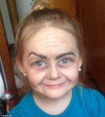 You Won't Believe She's Just Three Years Old! Infant Becomes Online Sensation After Aunt Transforms Her To An Old Woman Using Makeup