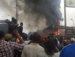 Fire Guts Two Filling Stations In Surulere (Photos)
