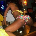 SMH: Girl Pictured Twerking Despite Having  'Kro-Kro' All Over Her Butt(Photo)