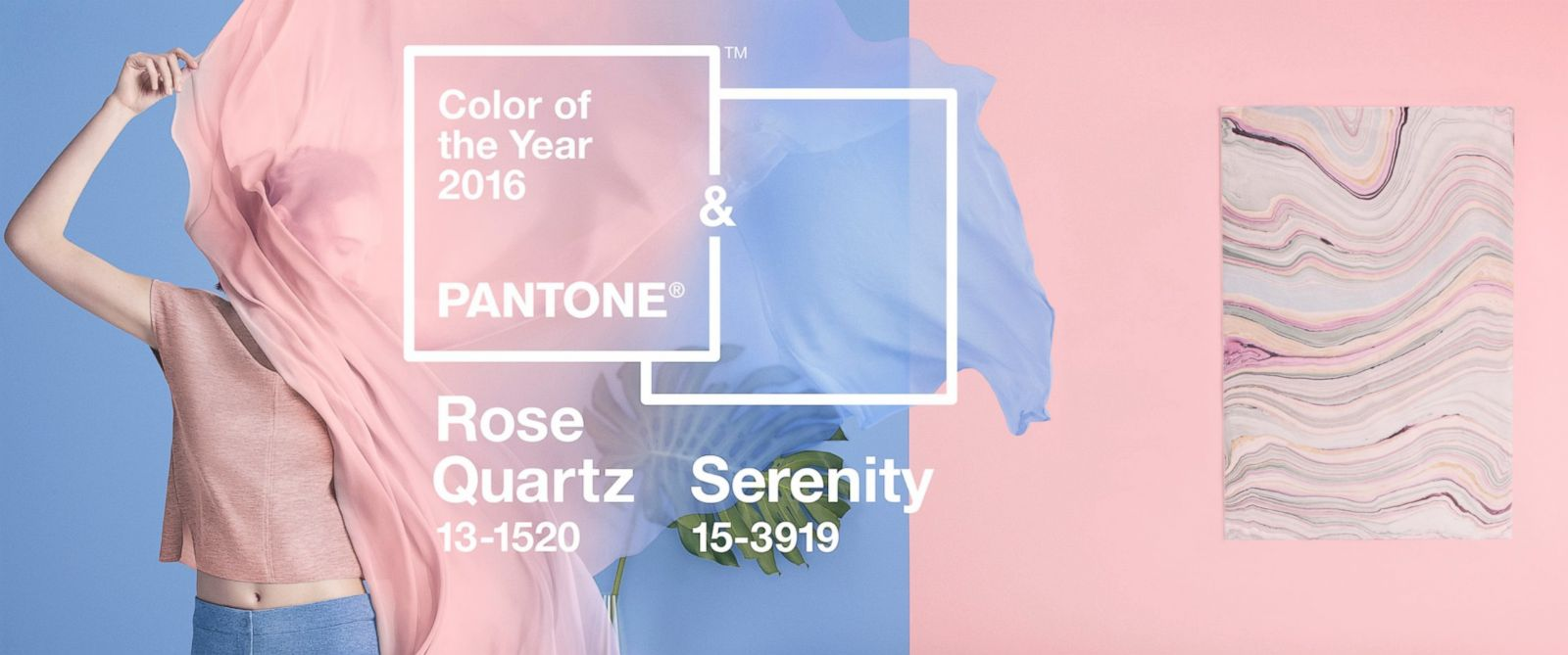 Did You Know? Colours For 2016 Are Rose Quartz And Serenity(LOOK)