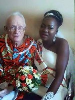 Love Is Blind? African Girl Under Fire After Photo Of Her Marriage To Caucasian Grandfather Goes Viral