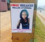 """Leave My Husband ALONE!""-Angry Woman As She Makes Poster Of Lady She Accuses Of Cheating With Her Husband"
