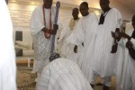Epic Photos: 82 Year Old Ex President Olusegun Obasanjo PROSTRATES For 41 Year Old Ooni Of Ife(Photos )