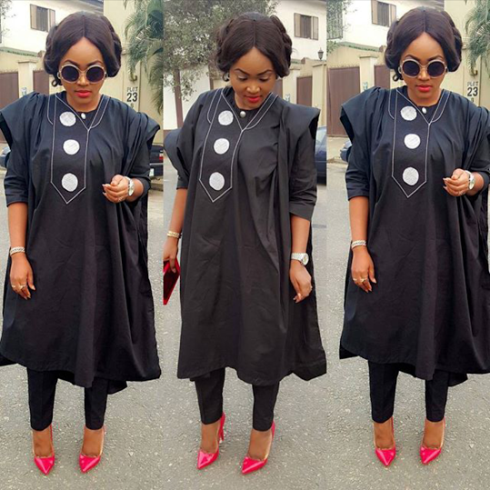 Must See Look: Actress Mercy Aigbe Stuns In Female Agbada