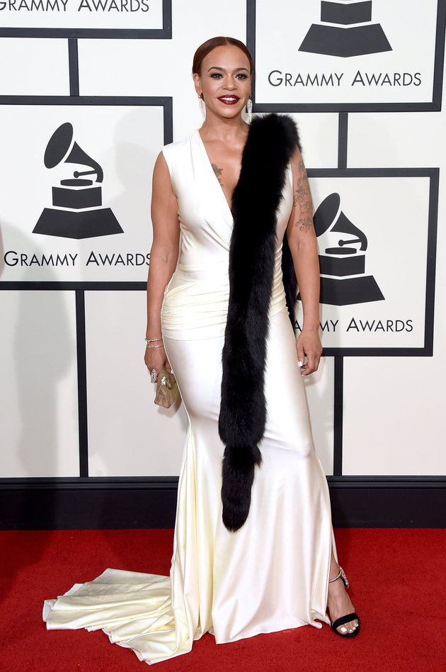 LOS ANGELES, CA - FEBRUARY 15: Singer Faith Evans attends The 58th GRAMMY Awards at Staples Center on February 15, 2016 in Los Angeles, California. (Photo by Jason Merritt/Getty Images for NARAS)