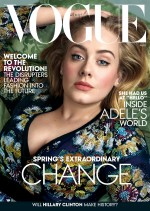 Adele Wows On The Cover Of March 2016 Edition Of Vogue(Photos)