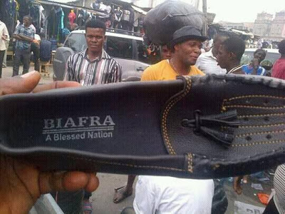 """IPOB: See 'Made In Biafra"""" Shoe Someone Bought In Lagos"""