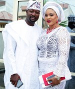 Couple Goals: Actress Mosun Filani Steps Out With Husband In White