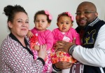 Adorable: See First Black And White Identical Twins Born In The UK (Photos)