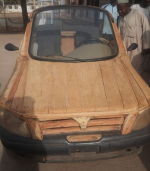 Amazing Talent: See Functional Wooden Car Man Built In Niger State