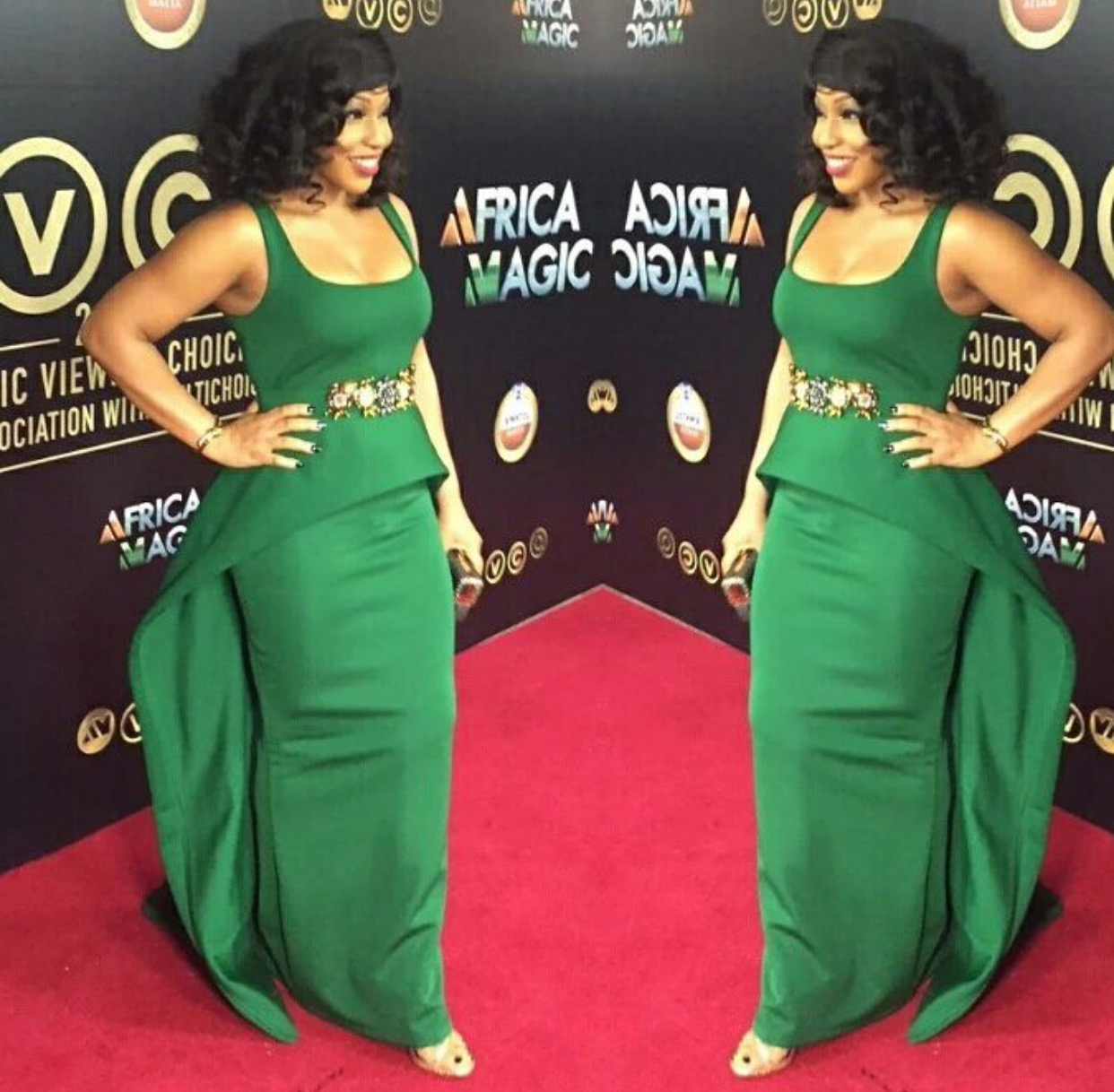 Image result for Rita Dominic Named The Queen Of Amvcas Red Carpet