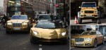 Money Speaking! Rich Arab Flies Fleet Of Gold State Of The Art Cars Worth Over £1Million To London  For Use During Holiday