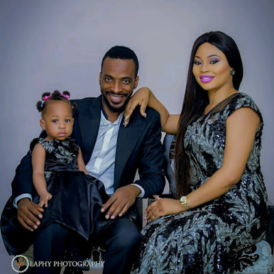 Gorgeous Family Photo Of Singer 9ce, His Wife And Kid