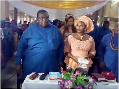Photos: 78 Year Old Billionaire Chief Emmanuel Iwuanyanwu And 28 Year Old Wife Dedicate Son