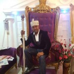 Is He Wrong? Yoruba Monarch Olowu Of Owu Under Fire For Wearing Suit On Throne (Photo)
