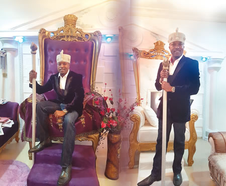 The Oluwo, His Jacket And Jeans: Meet Osun Monarch Taking The Internet By Storm And His Beautiful Jamaican Wife