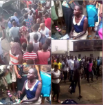 NABBED: Angry Lagosians Descend On Suspected Female Kidnapper, Who Sells Children For N50,000 (photos)