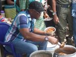 Buka Adventures With Fayose: Ekiti Governor Stops Convoy To Buy Locally Made Beans 'Ewa Agoin'(Photos )