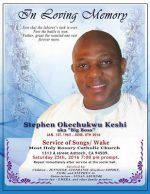 Stephen Keshi's Obituary Poster and Burial Arrangements(PHOTO)