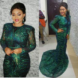 Must See Look: Actress Mercy Aigbe Stuns In Black And Green Dress For City People Awards (Photos And Video)