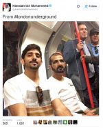 Sheikh Of Dubai Rides Train In Casual Clothes, Pictures Go Viral On Twitter