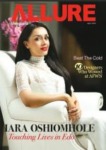 Stunning! Edo State First Lady Iara Oshiomhole On The Cover Off Vanguard Allure