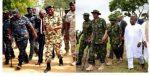 Who Wore It Better? GEJ Vs President Buhari In Military Uniform