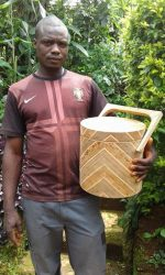 Man Designs First Made In Nigeria Wooden Flask (LOOK)