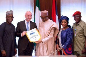 PHOTOS: President Buhari Receives FIFA President Gianni Infantino