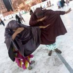 "Is Dabbing Wrong? Two Nigerian Women Come Under Fire For ""Dabbing"" In Mecca ( Photo)"