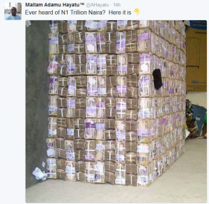 Viral Photo: Is This What One Trillion Looks like In Cash?